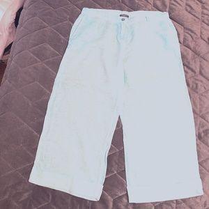 Aqua Blue Linen Trousers from Elena Miro